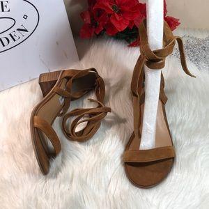 Steve Madden Rizza Lace-Up Block-Heel Sandals 6M